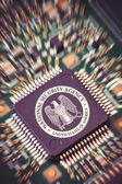 NSA Microchip macro — Stock Photo