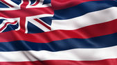 US state flag of Hawaii — Stock Photo