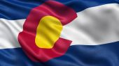 US state flag of Colorado — Stock Photo