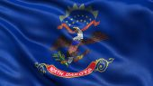 US state flag of North Dakota — Stock Photo