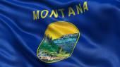 US state flag of Montana — Stock Photo