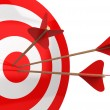 Arrows hit the target — Stock Photo #56487181