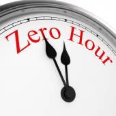 Zero hour on a clock — Stock Photo