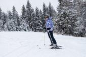 Skier girl. — Stock Photo