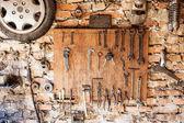 Old vintage tools at workshop. — ストック写真