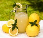 Pitcher With Lemonade — Stock Photo