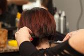 Hairdresser Cuts Hair — Stock Photo