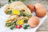 Chard Eggs Pie — Stock Photo