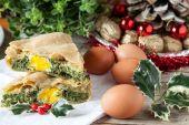 Christmas Pie — Stock Photo