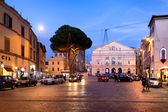 Viterbo Theater Square By Night — Stock Photo