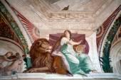 Fresco Detail Casino Montaldo Villa Lante Italy — Stock Photo