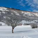 Winter Panorama Majella Mountain Abruzzi Italy — Stock Photo #64638881