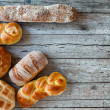 Various Bread Types — Stock Photo #65636523