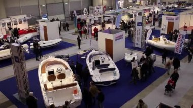 Boat Show Rome 2015 — Stock Video