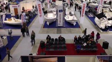 Boat Show Rome 2015 — Stock Video