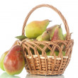 Pears in the basket — Stock Photo #52012737