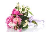 Beautiful bouquet of peonies — Stock Photo