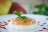 Dairy dessert panna cotta — Stock Photo