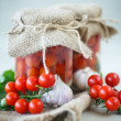Canned tomatoes — Stock Photo #53539857