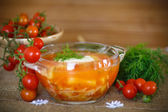 Tomato soup with pasta in a bowl  — Stock Photo