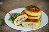 Potato cakes with meat — Foto de Stock