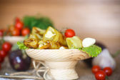 Rouleaux aubergine — Photo
