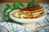 Thin sweet pancakes with jam — Stock Photo