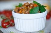 Bean stew with vegetables — Stock Photo