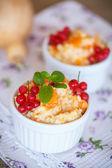 Sweet pumpkin porridge with berries  — Stock Photo