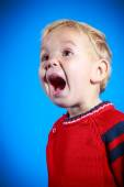 Baby with mouth open  — Stock Photo