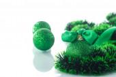 Christmas tree ornaments and balls — Stock Photo