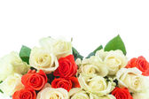 Bouquet of red and yellow roses  — Stock Photo