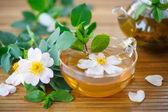 Tea of rose petals — Stock Photo