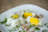 Eggs steamed — Stock Photo