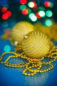 Christmas tree ornaments and balls — 图库照片