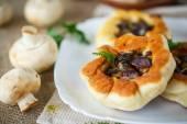 Fried patties with mushrooms — Stock Photo