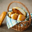 Homemade pies in a basket  — Stock Photo #58882539