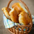 Homemade pies in a basket  — Stock Photo #59202263