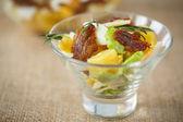 Potato salad with bacon and eggs — Stock Photo