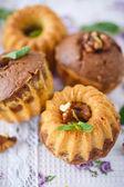 Sweet walnut muffins — Stock Photo
