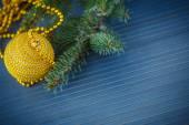 Arbre de Noël avec ornements — Photo