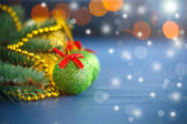 Christmas decorations on an abstract background — Stock Photo
