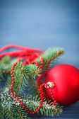 Christmas tree with ornaments   — Stock Photo