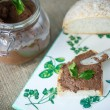 Homemade liver pate with bread — Stock Photo #60534721