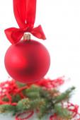 Weihnachtskarte mit spielzeug — Stockfoto