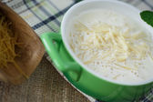 Sweet vermicelli cooked with milk — Stock Photo