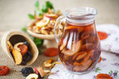 Compote of dried fruits — Stock Photo