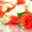 Red rose on the abstract background — Stock Photo #63754797