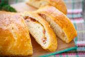 Baked bread stuffed with cheese  — Stock Photo