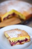 Sponge cake with berries — Stock Photo